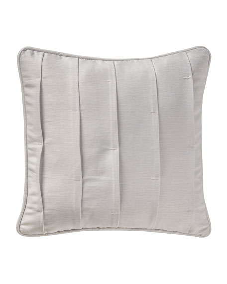 "Sophia Pleated Pillow, 16""Sq."