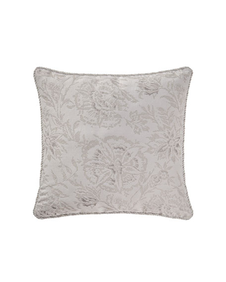 "Sophia Floral Pillow, 18""Sq."
