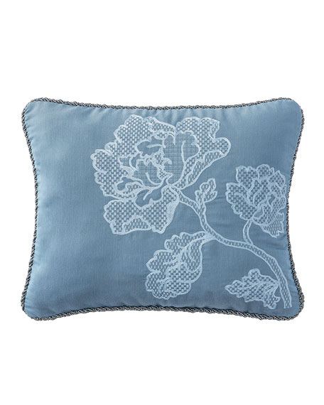 "Reversible Blossom Pewter Pillow, 16"" x 20"""