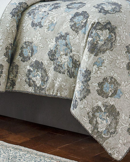 Queen Blossom Pewter 4-Piece Comforter Set