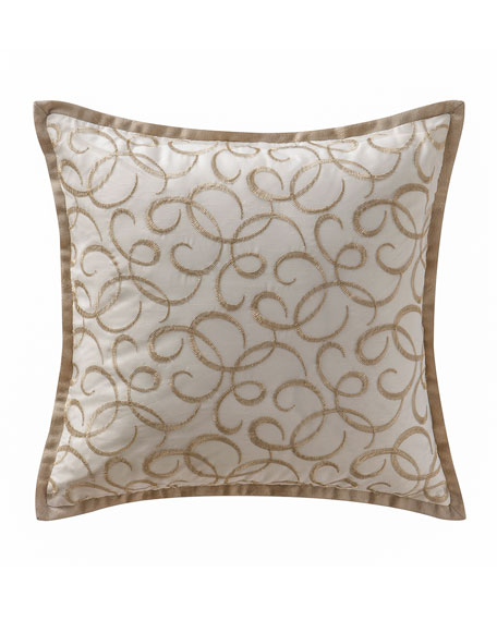 "Chantelle Embroidered Pillow, 16""Sq."