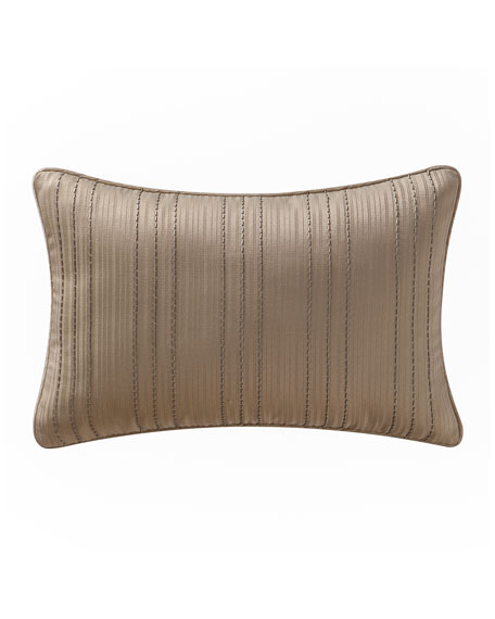 "Chantelle Beaded Stripe Pillow, 12"" x 18"""