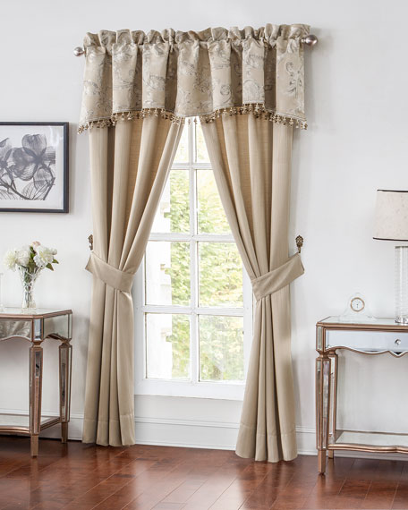 Waterford Two Chantelle Stripe Jacquard Curtains, 84