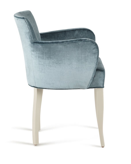 Jamie Blue Velvet Accent Chair