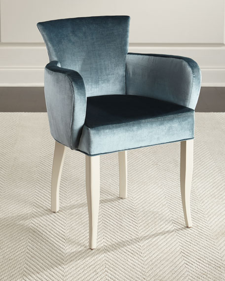 Jamie Blue Velvet Accent Chair