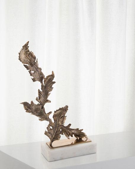 Antiqued Brass Chinkapin Sculpture, Medium