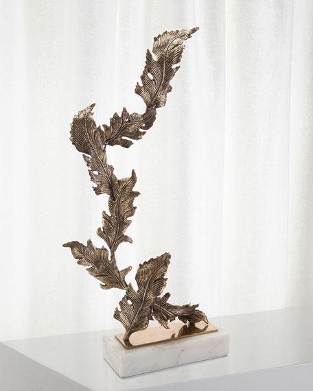 Antiqued Brass Chinkapin Sculpture, Large