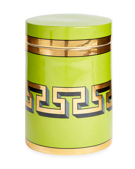 Green Mykonos Canister