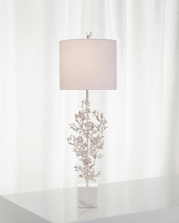 John Richard Collection Silver Botanical Table Lamp Neiman Marcus