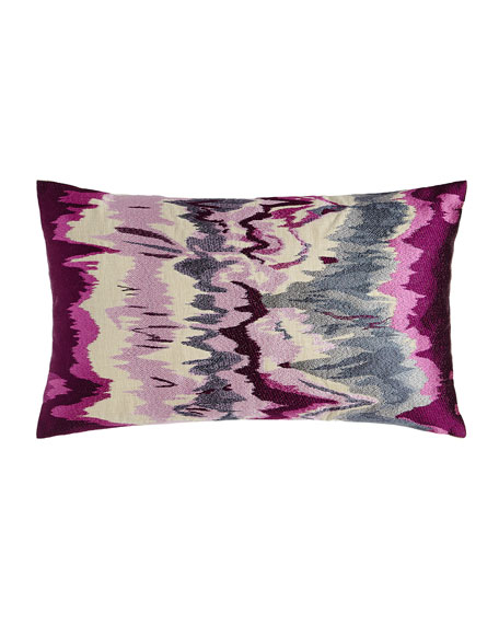 "Seismograph Plum Pillow, 14"" x 24"""
