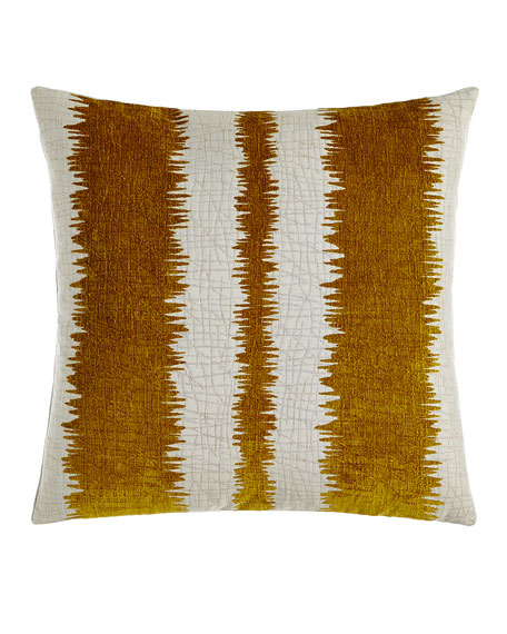 "Kamitra Citron Pillow, 20""Sq."