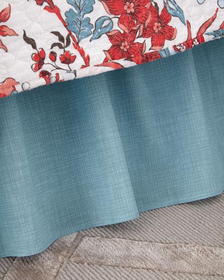 Aegean Grid Bed Skirt, King