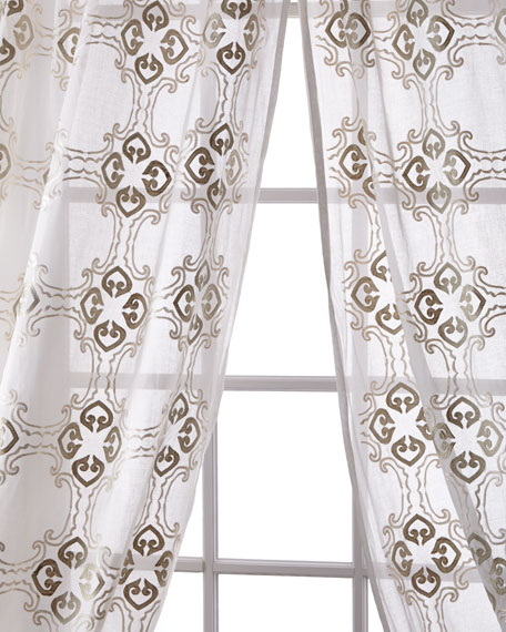Creative Threads Frazer Cotton Organdy Curtain, 108