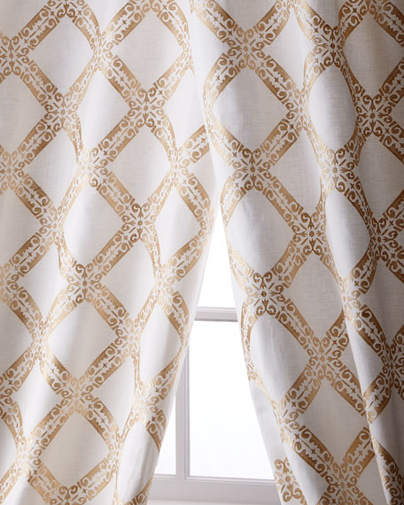 Creative Threads Stag Linen/Cotton Curtain, 108