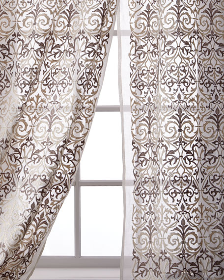 Abound Cotton Organdy Curtain, 108""