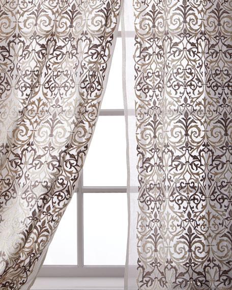 """Abound Cotton Organdy Curtain, 108"""""""