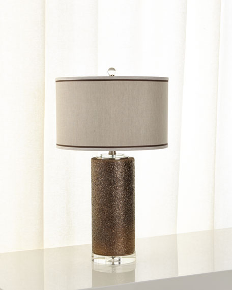 Metallic Crusted Lamp
