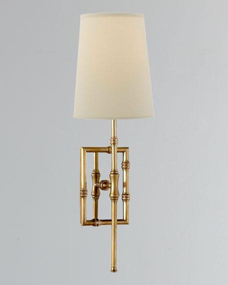 Grenol Single-Light Modern Bamboo Sconce