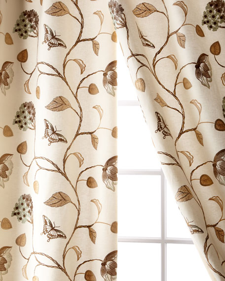Butterfly Linen/Cotton Curtain, 96""