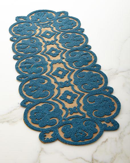 Divine Designs Beaded Jute Table Runner