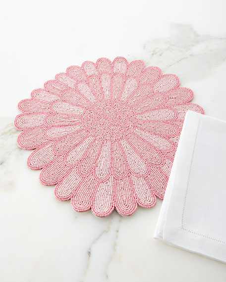 Beaded Flower Placemat