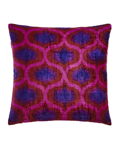 Pink/Purple Silk Velvet Pillow, 20