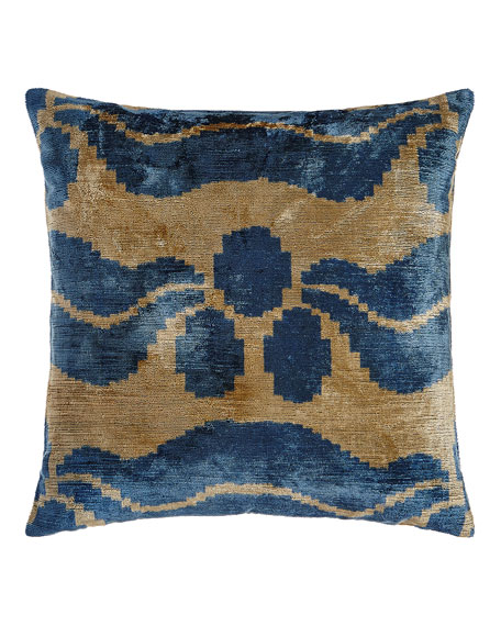 Blue Ivy Silk Velvet Pillow, 20