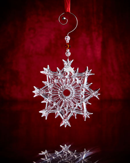 Waterford Crystal Annual Snow Crystal Ornament