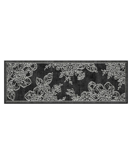 "Wild Rose Runner, Black, 2'6"" x 8'"