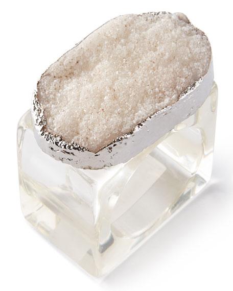 Kim Seybert Four Crystal Rock Napkin Rings