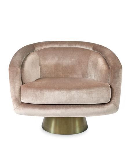 Jonathan Adler Bacharach Velvet Swivel Chair Neiman Marcus