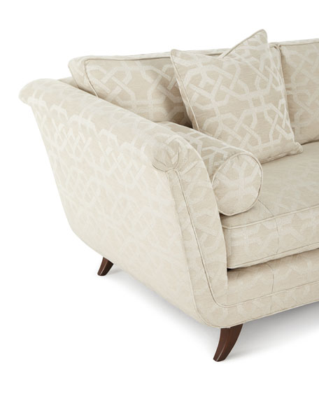 Ivory Trellis Sofa