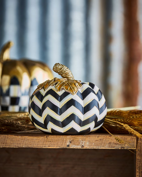 MacKenzie-Childs Small Chevron Pumpkin
