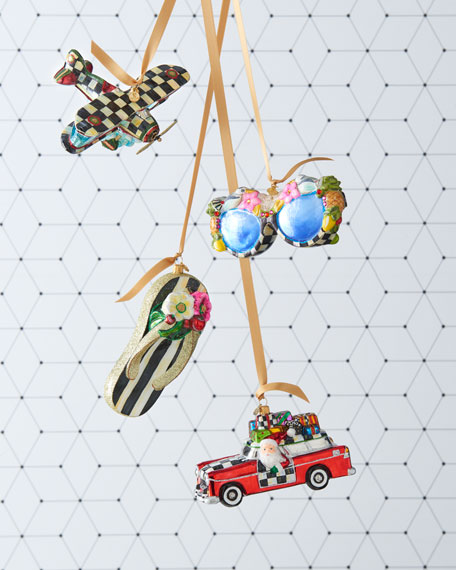 St. Tropez Sunglasses Glass Ornament