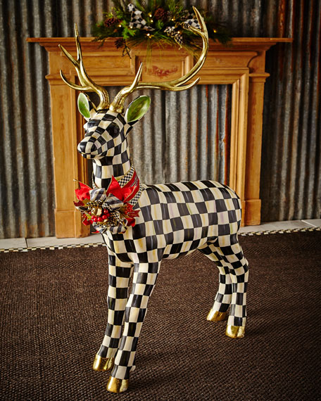 MacKenzie-Childs Courtly Check Standing Deer