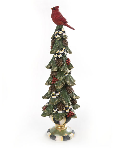 Short Christmas Cardinal Tree