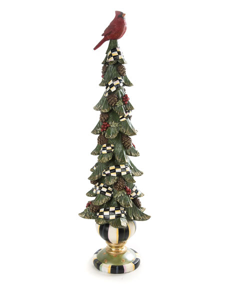 MacKenzie-Childs Tall Christmas Cardinal Tree