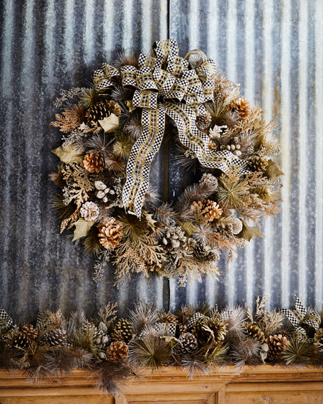 MacKenzie-Childs Large Precious Metals Wreath