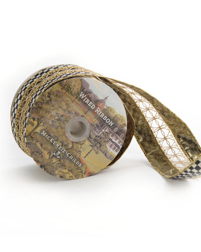 Precious Metals Holiday Ribbon, 10 Yards