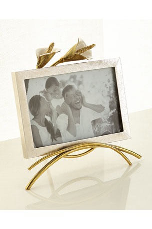 """Michael Aram Calla Lily Easel Picture Frame, 4"""" x 6"""""""