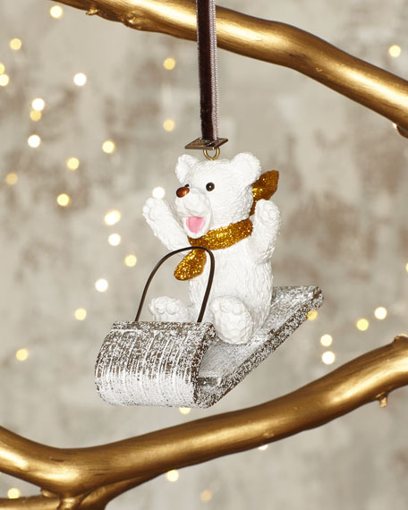 Michael Aram Sledding Teddy Bear Ornament