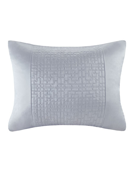 Quilted Duvet Sham, King, White Orchid