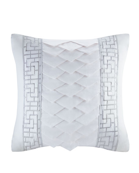 Decorative Square Pillow, White