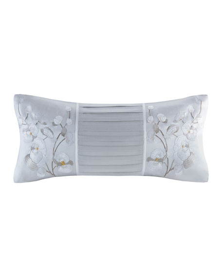 Natori White Orchid Oblong Pillow