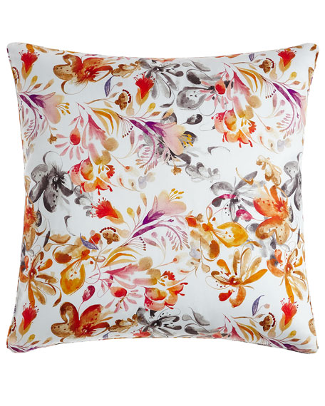 European Watercolor Floral Sham