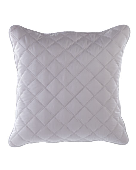 Quilted Silken Solid European Sham, Gray
