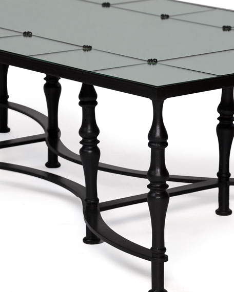 Anders Mirrored-Top Coffee Table