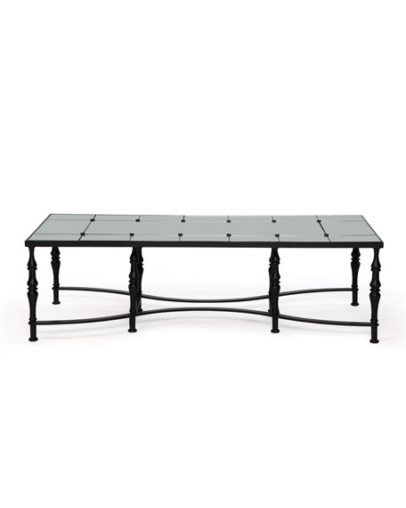 Badgley Mischka Home Anders Mirrored Top Coffee Table