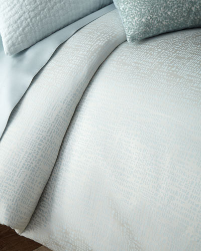 Sketch Jacquard King Duvet Cover