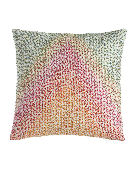 Pointillism Embroidered Pillow